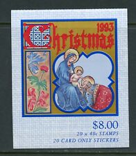Z213 Australia 1993 Christmas Nativity Goodwill Complete Booklet Mnh