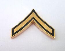 US ARMY RANK E-2 PRIVATE (DARK GREEN) Military Veteran Collar / Hat Pin 14423 HO