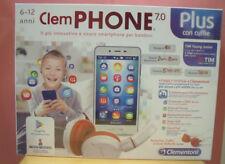 CLEMENTONI 16601 CLEMPHONE 7.0 CON CUFFIE STEREO CELLULARE PER BAMBINI 6/12 ANNI