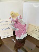 Lenox Bisque Cinderella Figurine And Glass Slipper With Box
