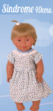 Toyse240754 40cm Soft Doll Girl Doll With Downs Syndrome With Blonde Hair