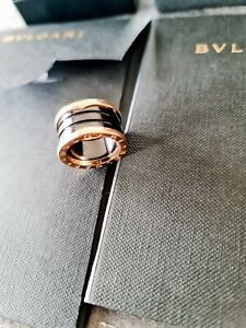 Bulgari/Bvlgari B.Zero1 Ring 4 Band Black Keramik Gr. 50 Rose Gold 750/18