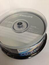25-pk Philips brand 12x CD-RW Rewritable CD Blank Recordable Disc CDRW50D12/550