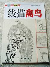 Birds Outline Line Drawing Chinese Painting Bird Tattoo Flash Reference Book