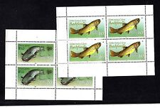 GERMANY,EAST (DDR) STAMPS #2608-9 — MINI SHEET 4 -- FISH -- 1987 -- MINT