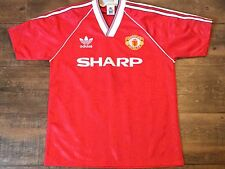 1988 1990 Manchester United Calcio Casa Maglietta Adulti Medium Man Utd JERSEY