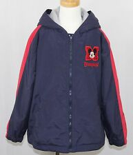 Disneyland Resort Mickey Mouse Zip Lined Embroider Coat Jacket Youth Child M 7/8