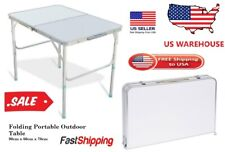 Folding Portable Table Plastic Indoor Outdoor Picnic Party Camp BBQ Tables USA