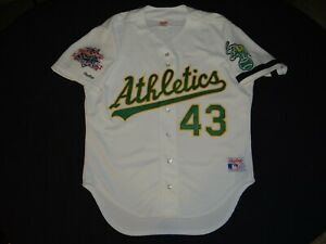 Authentic Oakland Athletics Eckersley Rawlings Baseball Jersey 1989 TI WS A's 50