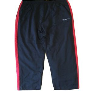 New CHAMPION track pants 5XL windbreaker black red stripe trackpants
