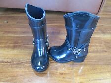 NEW Michael Kors BREA FULTON Rubber Rainboots Toddler Girls sz 6 Black