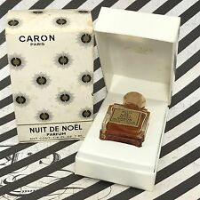 VINTAGE CARON NUIT DE NOEL PARFUM IN ORIG BOX 1/4 OZ 7 ML PARIS FRANCE