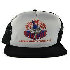 Vintage Kelly Miller 3-Ring Circus Hat Elephant Cap Trucker Snapback Mesh White