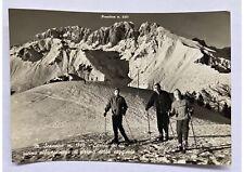 Cartolina vera fotografia monte Scanapà Presolana anni '50 bianco e nero