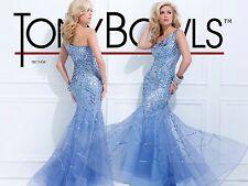Tony Bowls Sequin One Shoulder Mermaid Gown Sz 12 TBE11434 Evening Dress Terani
