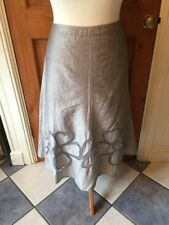 Per Una Calf Length Plus Size Linen Blend Skirts for Women