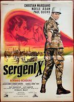 Plakat Sergeant X Legion Étrangere Christian Marquand Bernard Borderie 40x60cm