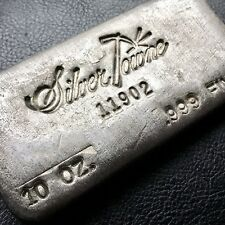 Vintage Hand Poured SilverTowne Serialized 10 oz .999 Fine Silver Bar (0718-2)