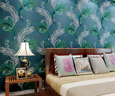 3D Peacock feather carved wallpaper TV background backdrop living room bedroom