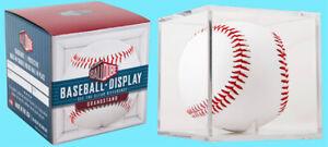 BALLQUBE GRANDSTAND BASEBALL UV SAFE DISPLAY CASE w/Stand NEW MLB Holder Cube