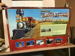 """Toy State Classic Express 5300 Battery Train Set 172"""" track A LITTLE CLEANING"""
