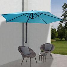 Parasol mural Casoria parasol déporté pour le balcon, 3m, inclinable ~ turquoise