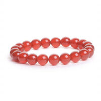8mm Natural Stone Red Agate Handmade Healing Stretch Beaded Bracelet  N45