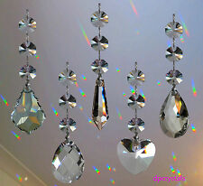 Hanging Crystal Sun Catcher Rainbow Prism Wind chime Mobile Swarovski Octagons