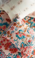 Anthropologie cotton Marka standard pillow Shams Cover Cases Pink Teal Floral
