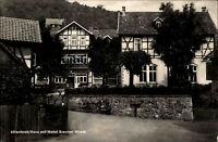 Altenbrak im Harz DDR s/w AK 1961 gelaufen Dorfpartie mit Hotel Brauner Hirsch