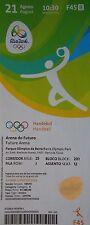 Billet olympique de 21/8/2016 rio handball platz 3 men's allemagne-pologne # F45