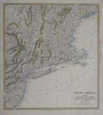 Original 1832 Map NORTHEASTERN US Long Island Cape Cod New Jersey Maine Vermont