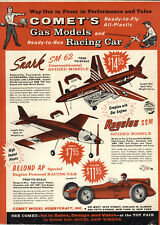 1959 PAPER AD 2 PG Comet Toy Airplanes Snark SM-62 Gas Engine Belond AP Race Car