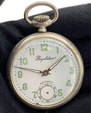 Regulateur Cal. VA-37 Vintage 43,2mm Manual Pocket Watch Doesn'T Runs for Parts