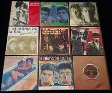 EL ULTIMO DE LA FILA 1985-1988  - LOTE 9 SINGLES VINILO + FOLLETO GIRA 88