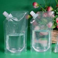 1PC Plastic DIY Transparent Pocket Flask Cruise Drinks Fresh Bag Suction