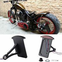 Black Side-mount License Plate Bracket LED Tail Light 4 Harley Sportster Bobber