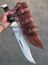 "18""ARC OUTBACK HANDMADE CROCODILE DUNDEE BOWIE KNIFE HIGH QUALITY LEATHER SHEATH"