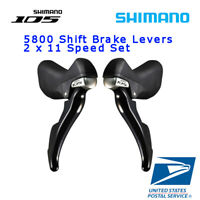 SHIMANO 105 ST 5800 2x11 Speed Shifter Brake Lever Set L+R Road Bike Black