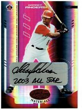 Garret Anderson 2004 Leaf Certified Materials Mirror Autograph Red #65 148/250
