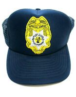 Vintage Department of Justice Special Agent Patch Trucker Mesh Snapback Hat Cap