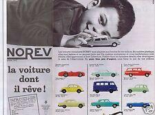 Publicité Advertising 026 1964 Norev la voiture dont il rêve (2 pages)
