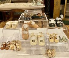 Lot of 12 Vintage and Antique Doll Shoes, All in Nice Condition