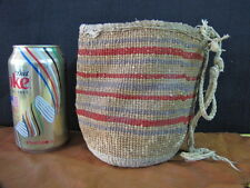 "Vintage Wasco Yakama Twined Root Collection Basket Sally Bag 5 1/2"" Tall"