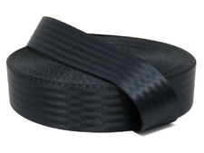 Black 11 Panel Polyester Webbing | Seat Belt Webbing 47mm | Soft and very strong