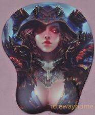 World of Warcraft WOW Warlock Sexy Girl Breast Mauspad Wrist Rest Gift