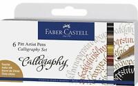 Faber-Castell PITT Artist Pen Set Calligraphy Multicoloured 6pk