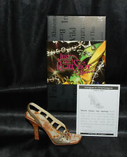 Just The Right Shoe by Lorraine Vail Shoe Miniatures-Intrigue in Champagne Nib