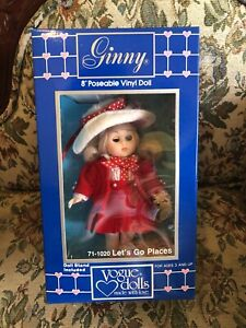 """Vogue Lets Go Places Ginny Doll In Original Outfit & Box 8"""" Dressed Doll New"""