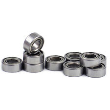 10pc 5x10x4mm Miniature Carbon Stee Metal Shielded Metric Ball Bearings MR105-ZZ